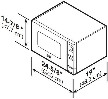 Viking VMOC206SS 5 Series 1.5 cu. ft. Capacity Countertop