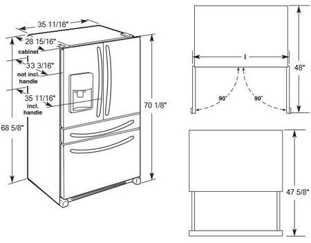 Maytag French Door Refrigerator Black, Maytag, Free Engine