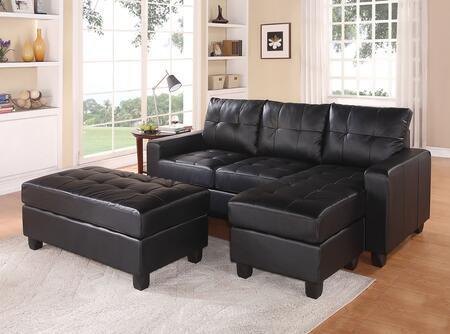 brooklyn bonded leather lounger chair and ottoman vintage wooden dining chairs acme furniture 51215 lyssa series stationary sofa zoom in 1