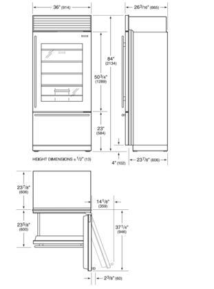 Sub-Zero BI36UGORH 36 Inch Panel Ready Counter Depth All
