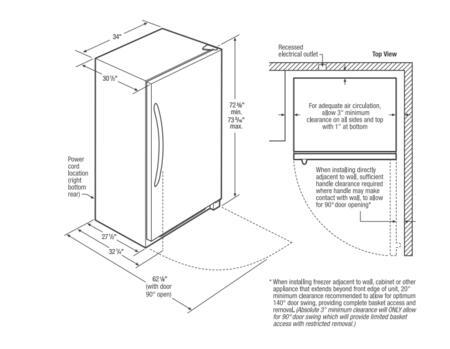 Frigidaire FFFH21F4QW 34 Inch Upright Freezer with 20.5 Cu