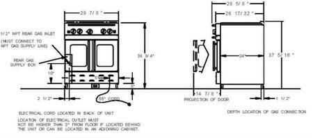 BlueStar RNB304MSNG 30 Inch Gas Freestanding Range, in