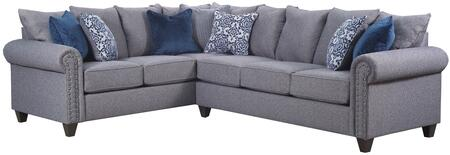 Simmons Upholstery 9175BR03LB03R Emma Series Stationary
