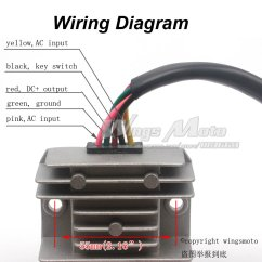 150cc Quad Bike Wiring Diagram Science Water Cycle Answers 5 Wires 12v Voltage Regulator Rectifier Motorcycle Dirt Atv Gy6 50 | Ebay