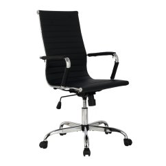 Modern Black Leather Desk Chair Wedding Decor Pu Ergonomic High Back Office