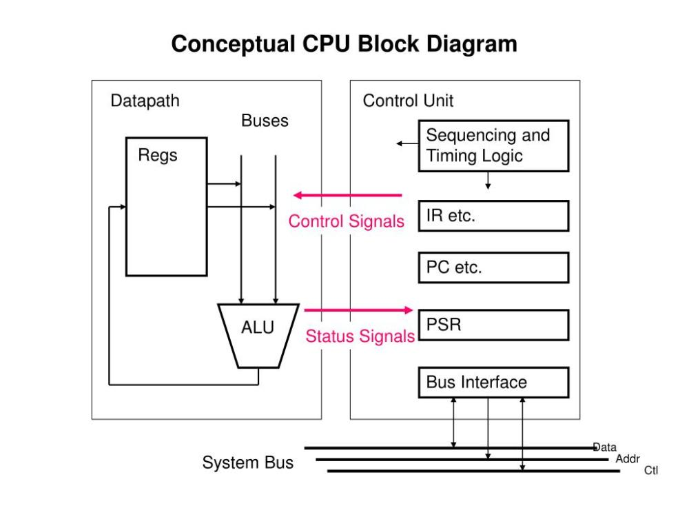 medium resolution of c p u block diagram