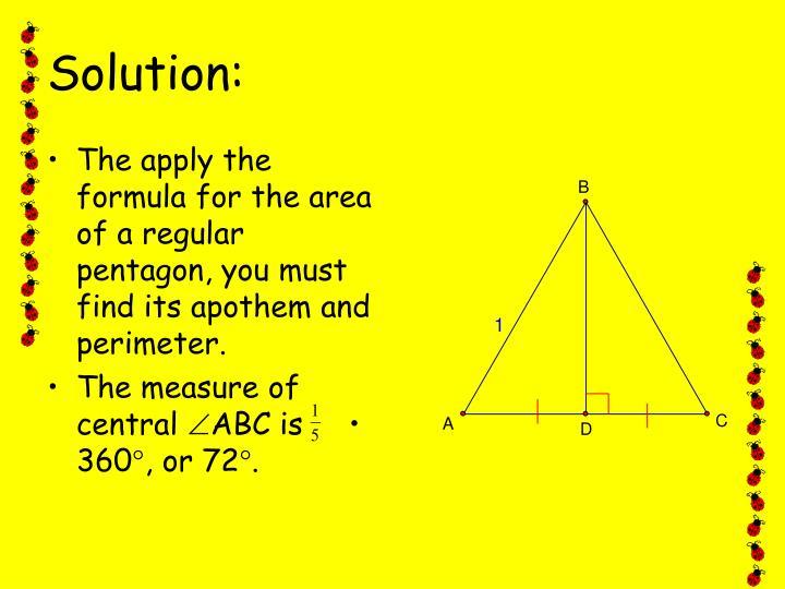 Triangle Area Regular Apothem
