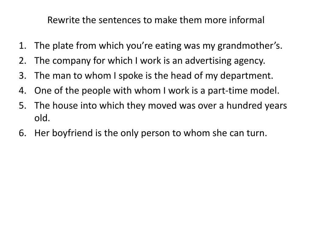hight resolution of PPT - Join the sentences using a relative pronoun. PowerPoint Presentation  - ID:5426720