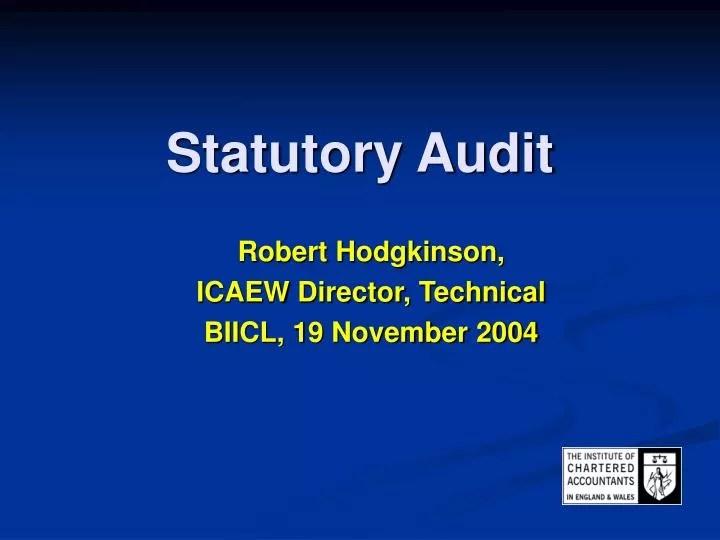 PPT - Statutory Audit PowerPoint Presentation. free download - ID:5433104