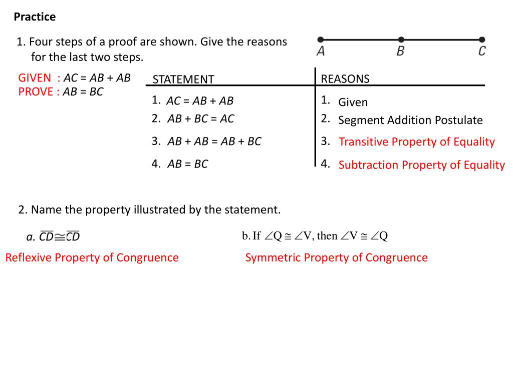 Property Addition Property Of Equality Proof