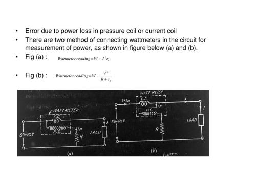 small resolution of  there are two method of connecting wattmeters in the circuit for measurement of power as shown in figure below a and b fig a fig b
