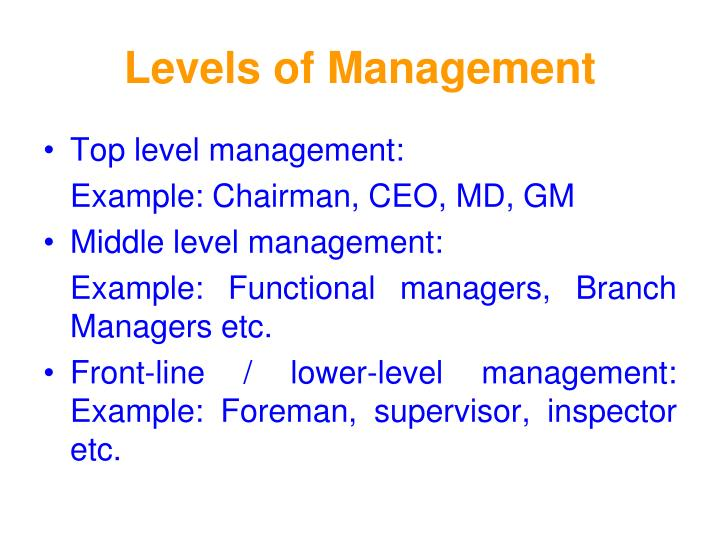 Levels Of Management   mwb-online co
