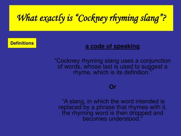 PPT - Cockney PowerPoint Presentation - ID:5557628