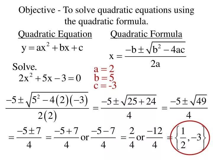 How To Do Solve Equation Using The Quadratic Formula - Tessshebaylo