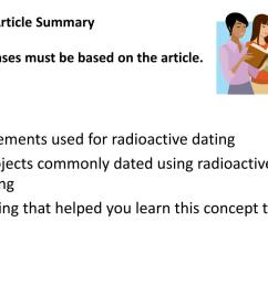 3 2 1 article summaryresponses must be based on the article 3 elements used for radioactive dating  [ 1024 x 768 Pixel ]
