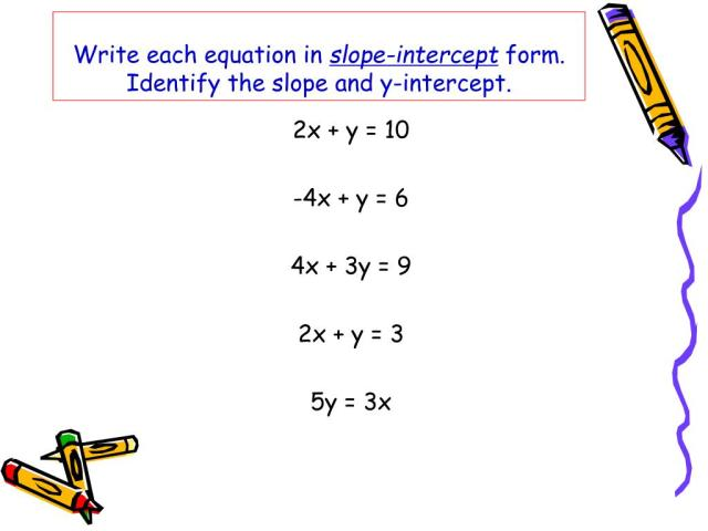 PPT - Slope-intercept Form PowerPoint Presentation, free download