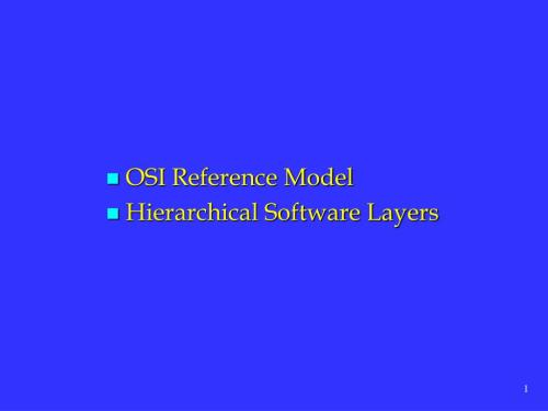 small resolution of osi reference model hierarchical software layers n