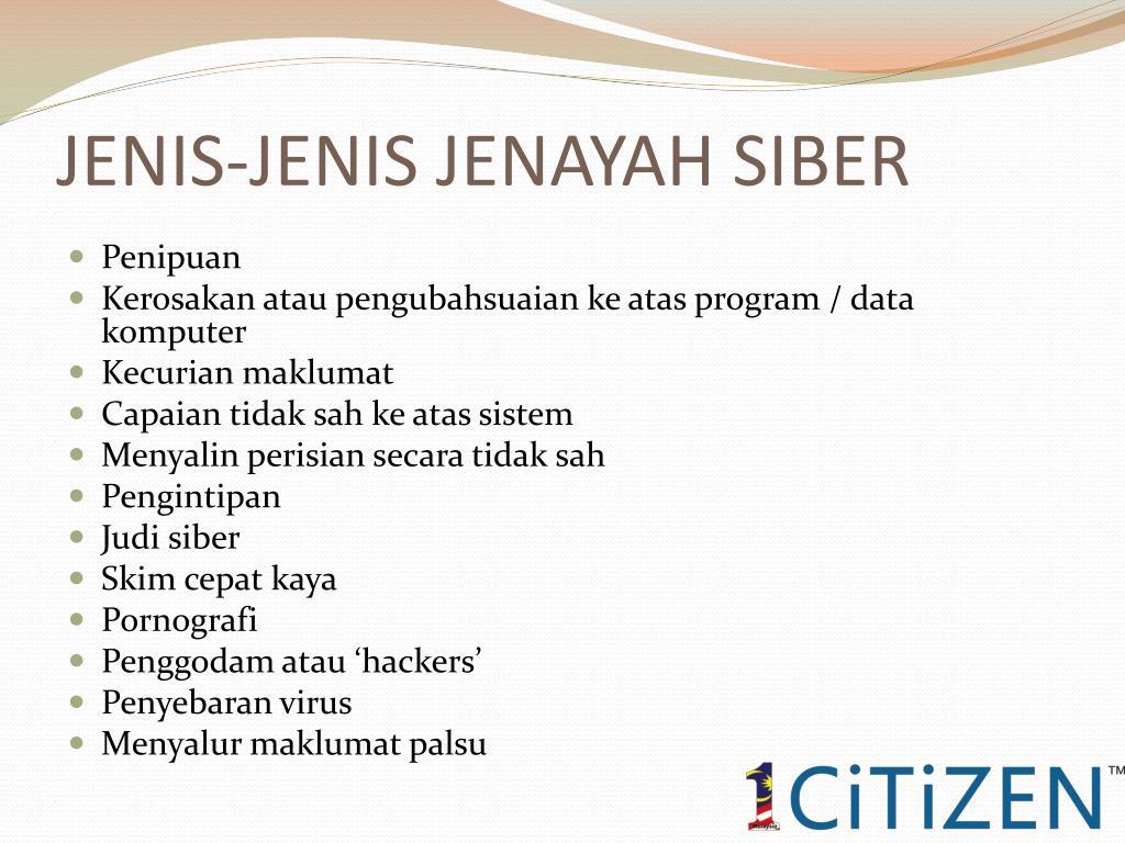 PPT - JENAYAH SIBER PowerPoint Presentation, free download - ID ...