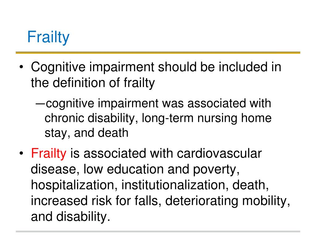 PPT - Frailty. Complex Cases in Geriatrics PowerPoint Presentation. free download - ID:5619348