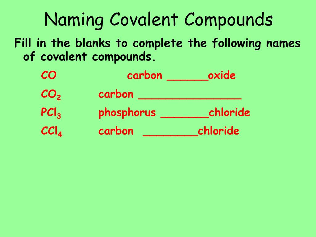 hight resolution of naming covalent compounds