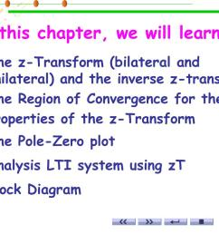 in this chapter we will learn the z transform  [ 1024 x 768 Pixel ]