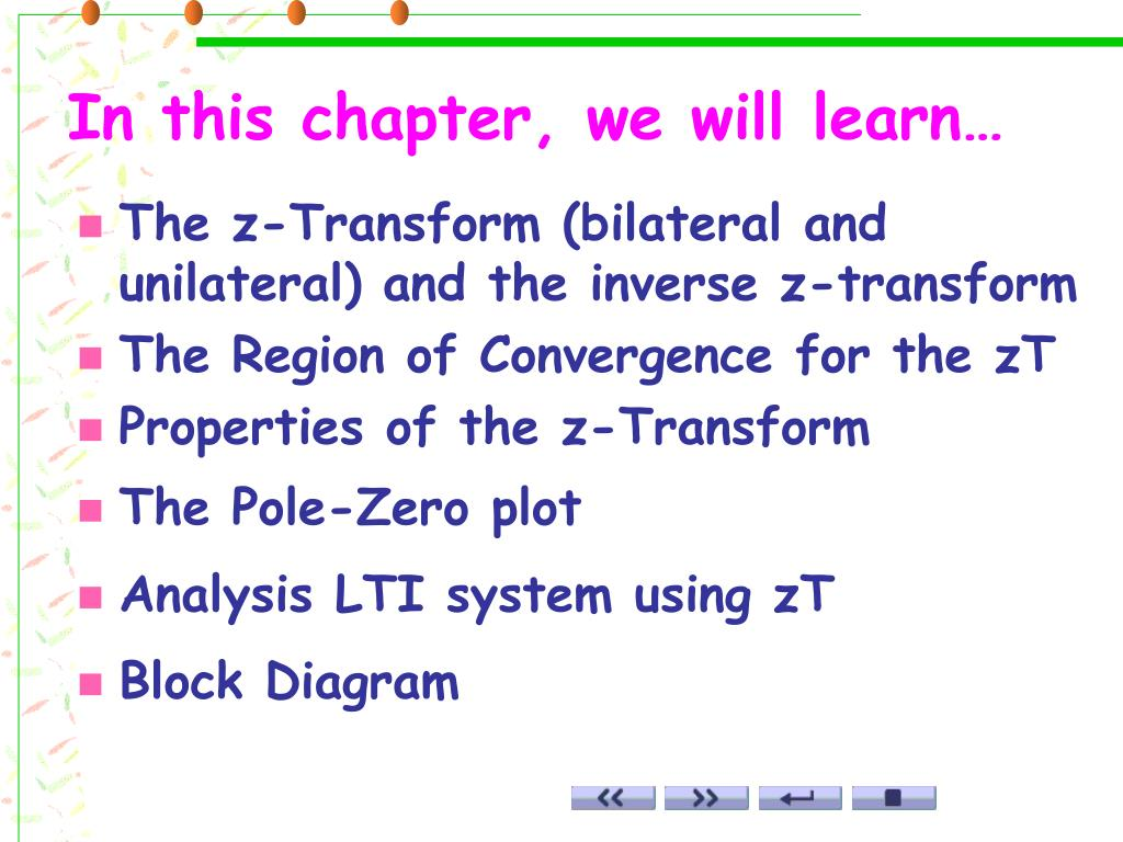 hight resolution of in this chapter we will learn the z transform