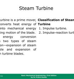 steam turbine steam turbine is a prime mover which converts heat energy of steam into mechanical energy by rotating motion of the blade  [ 1024 x 768 Pixel ]