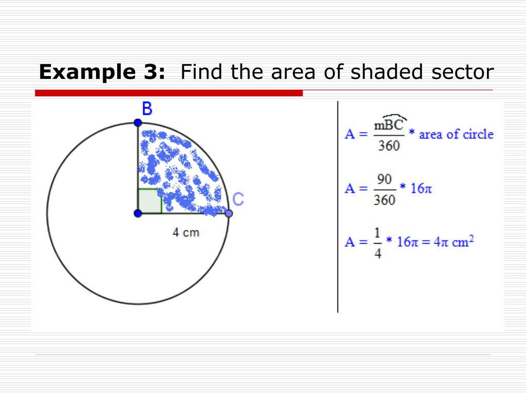 How To Find The Area Of A Shaded Sector