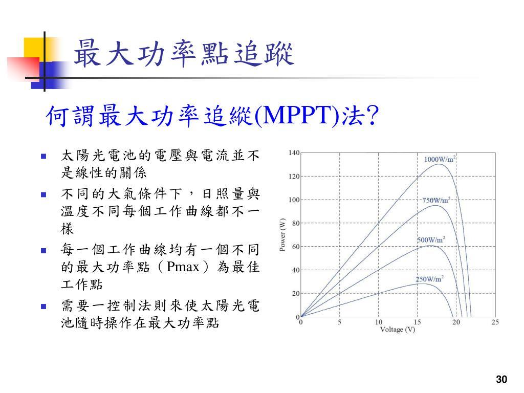 PPT - 應用於太陽能之變流器與市電併聯系統 PowerPoint Presentation - ID:5700899