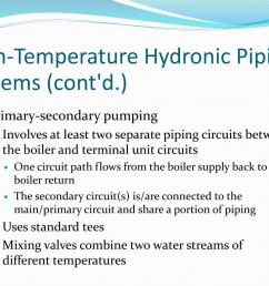 high temperature hydronic piping systems cont d primary secondary  [ 1024 x 768 Pixel ]