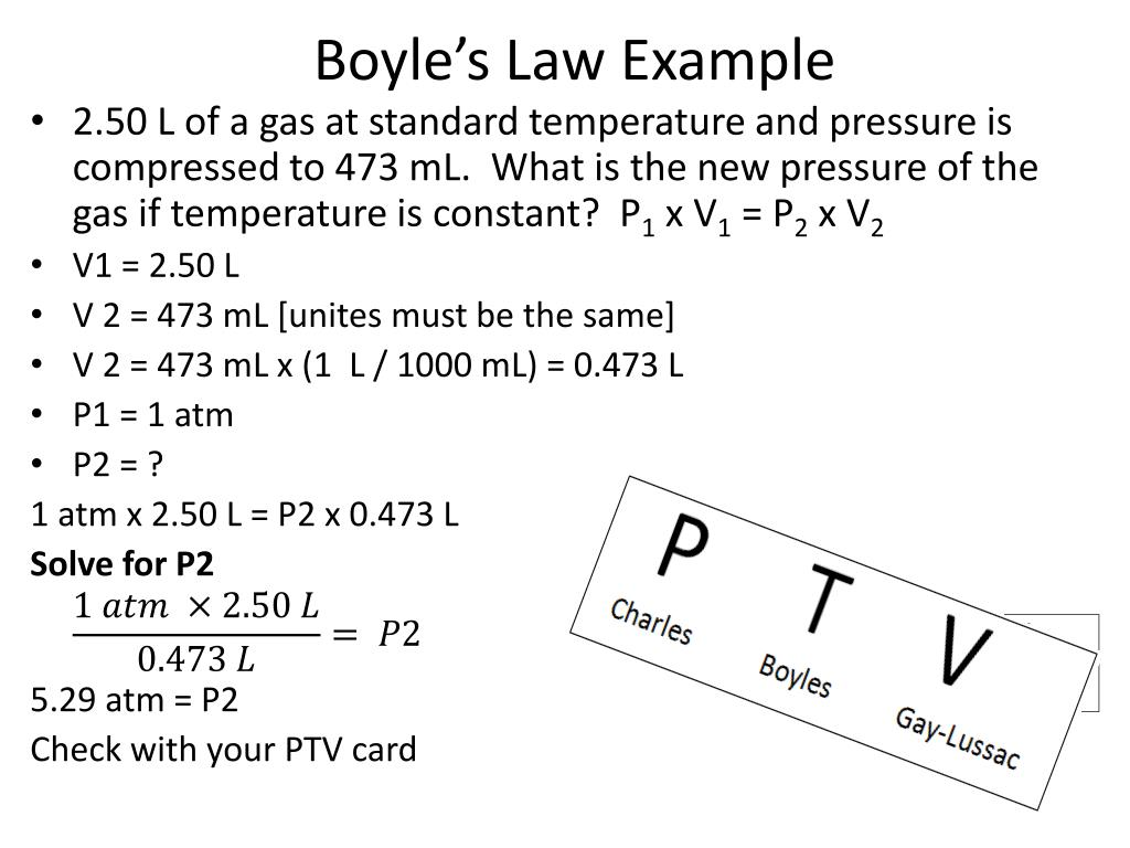Boyles Law Worksheet Answers