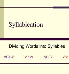 PPT - Syllabication PowerPoint Presentation [ 768 x 1024 Pixel ]
