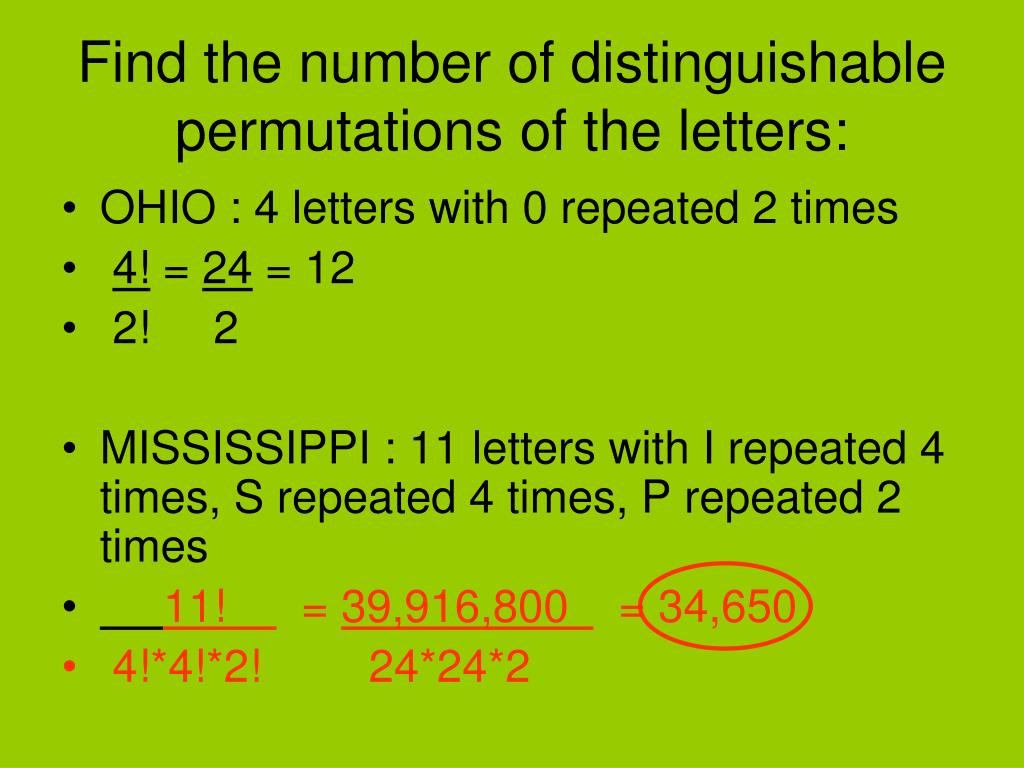 hight resolution of PPT - The Fundamental Counting Principle \u0026 Permutations PowerPoint  Presentation - ID:5749402
