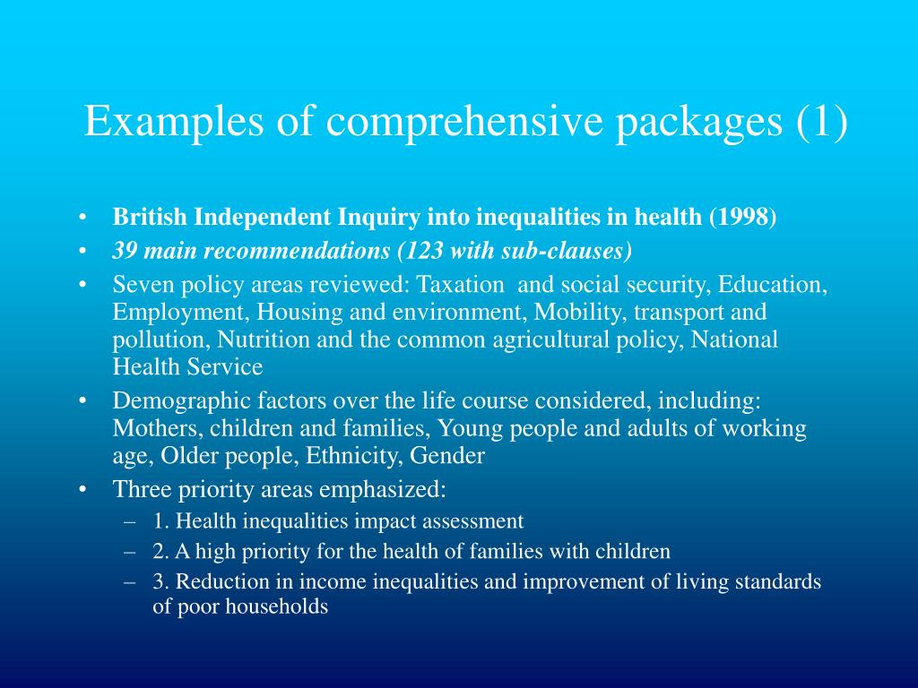 PPT - Reducing Health Inequalities in Europe; What can be done? PowerPoint Presentation - ID:5792932