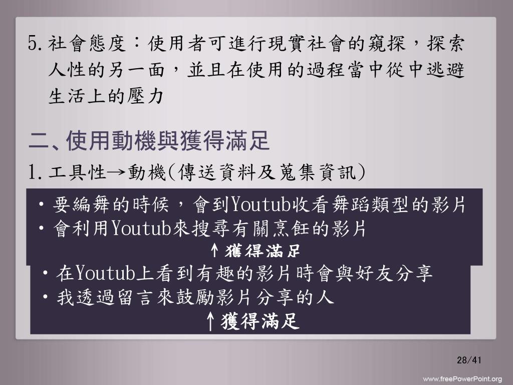 PPT - 使用與滿足理論 PowerPoint Presentation, free download - ID:5795782