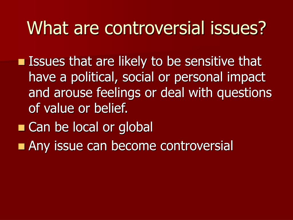 PPT - Controversial Issues in Social Education PowerPoint ...