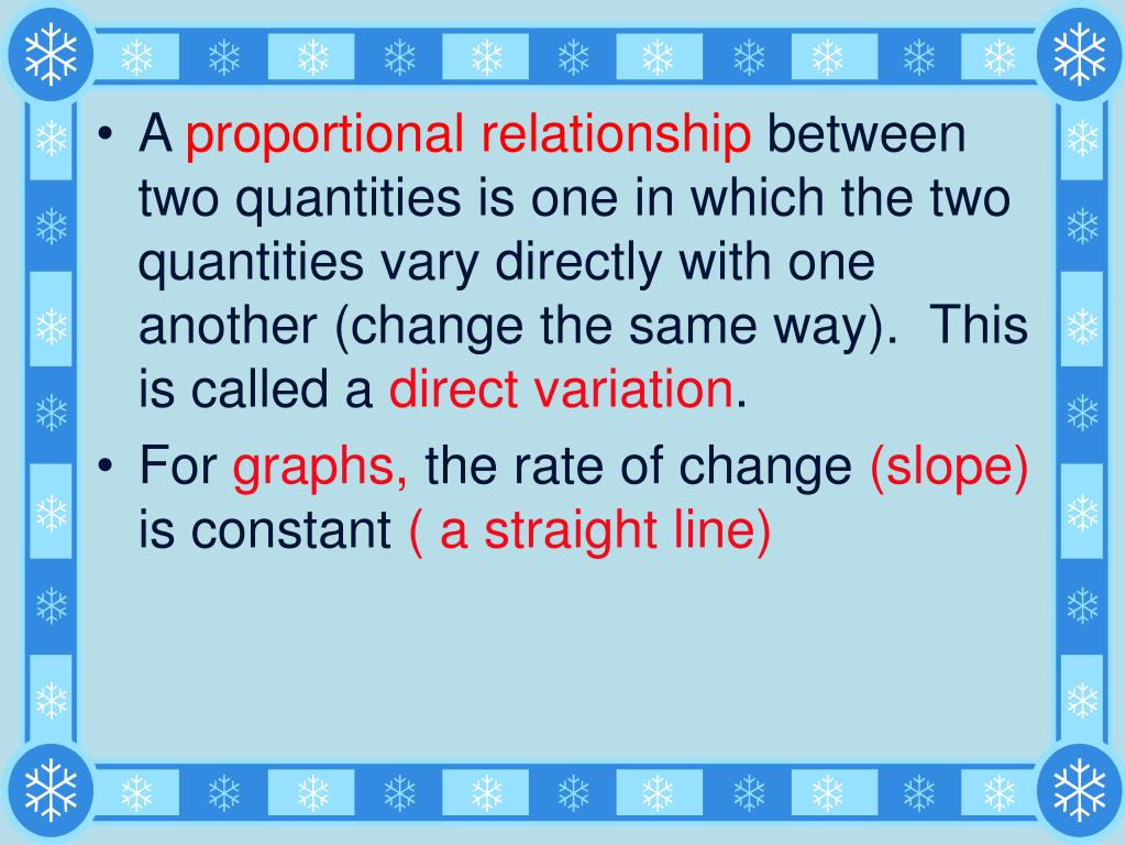 A Proportional Relationship Is When One Quantity Another
