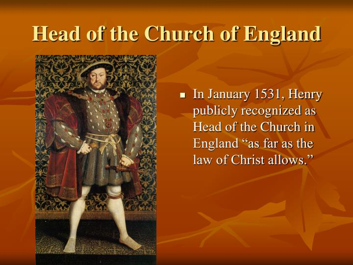 Head Henry Viii England Church