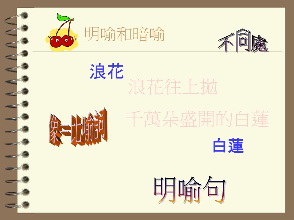 PPT - 認識比喻家族 PowerPoint Presentation. free download - ID:5906809
