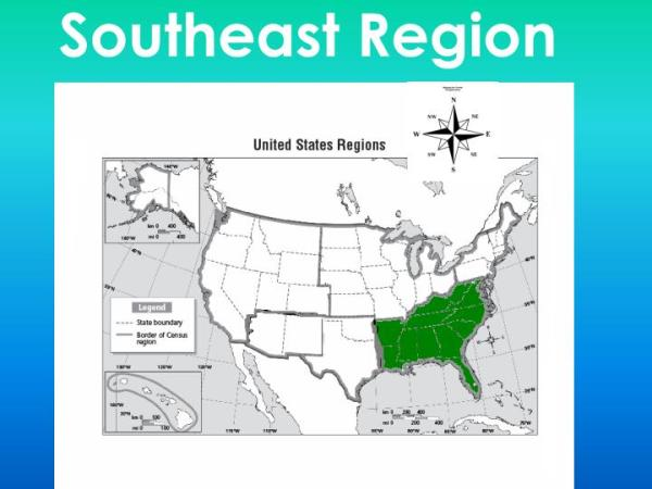PPT The Five regions of the USA Naming the states and