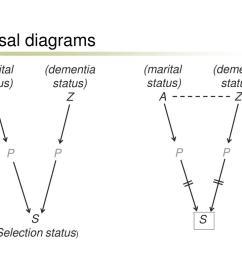 causal diagrams marital status a dementia status z marital status a dementia status z p p p p s s selectionstatus  [ 1024 x 768 Pixel ]