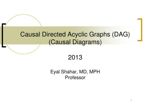 small resolution of causal directed acyclic graphs dag causal diagrams 2013eyal