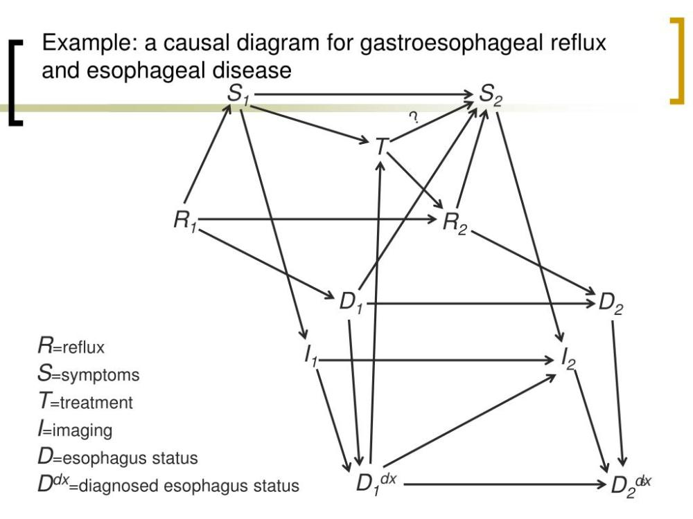 medium resolution of example a causal diagram for gastroesophageal reflux and esophageal
