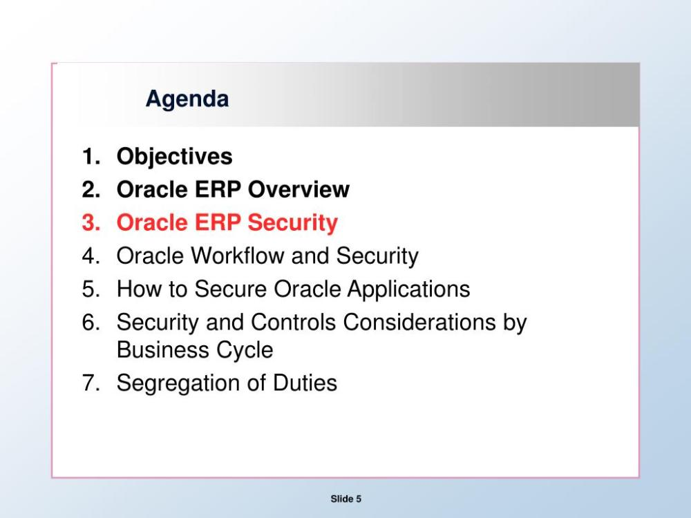 medium resolution of agenda objectives oracle erp overview oracle erp security oracle workflow and security how to secure oracle applications security and controls