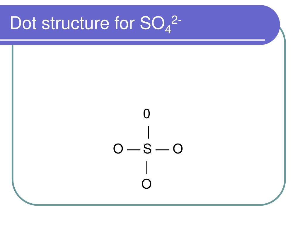 hight resolution of dot structure for so42 0