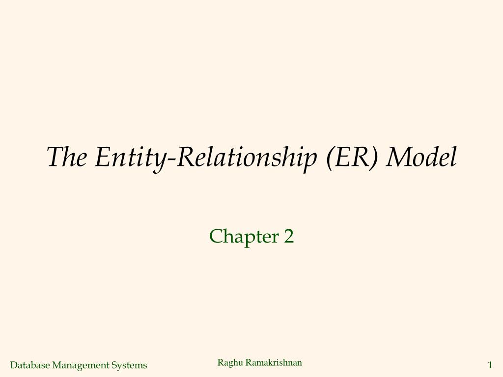 hight resolution of the entity relationship er model n