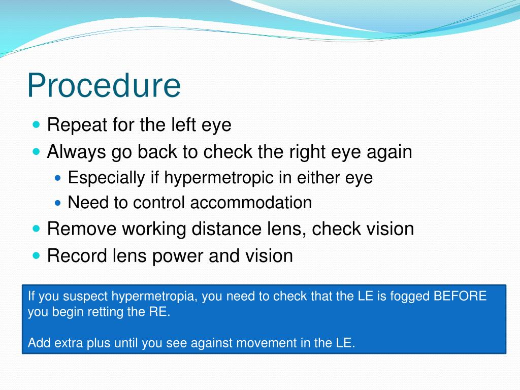 PPT - Retinoscopy PowerPoint Presentation. free download - ID:6119694