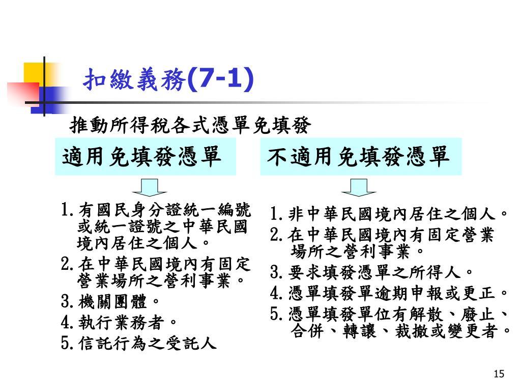 PPT - 所得稅扣繳相關法規 ( 以新法規為主 ) PowerPoint Presentation - ID:6130785