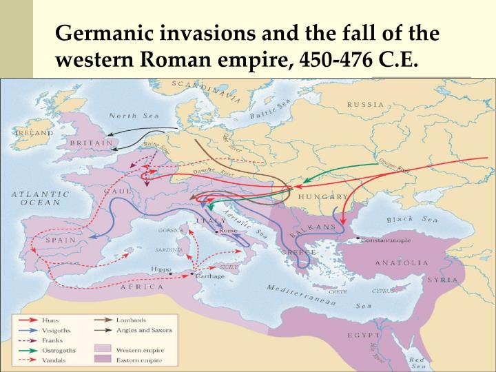 Germanic invasions of the roman empire Germans and the