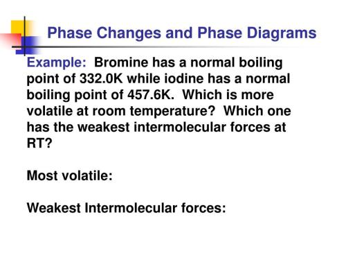 small resolution of phase changes and phase diagrams example bromine